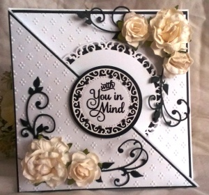 Elegant Birthday card mad using cutting dies.