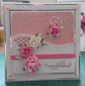 Wedding Card Made using Anja Edge Die