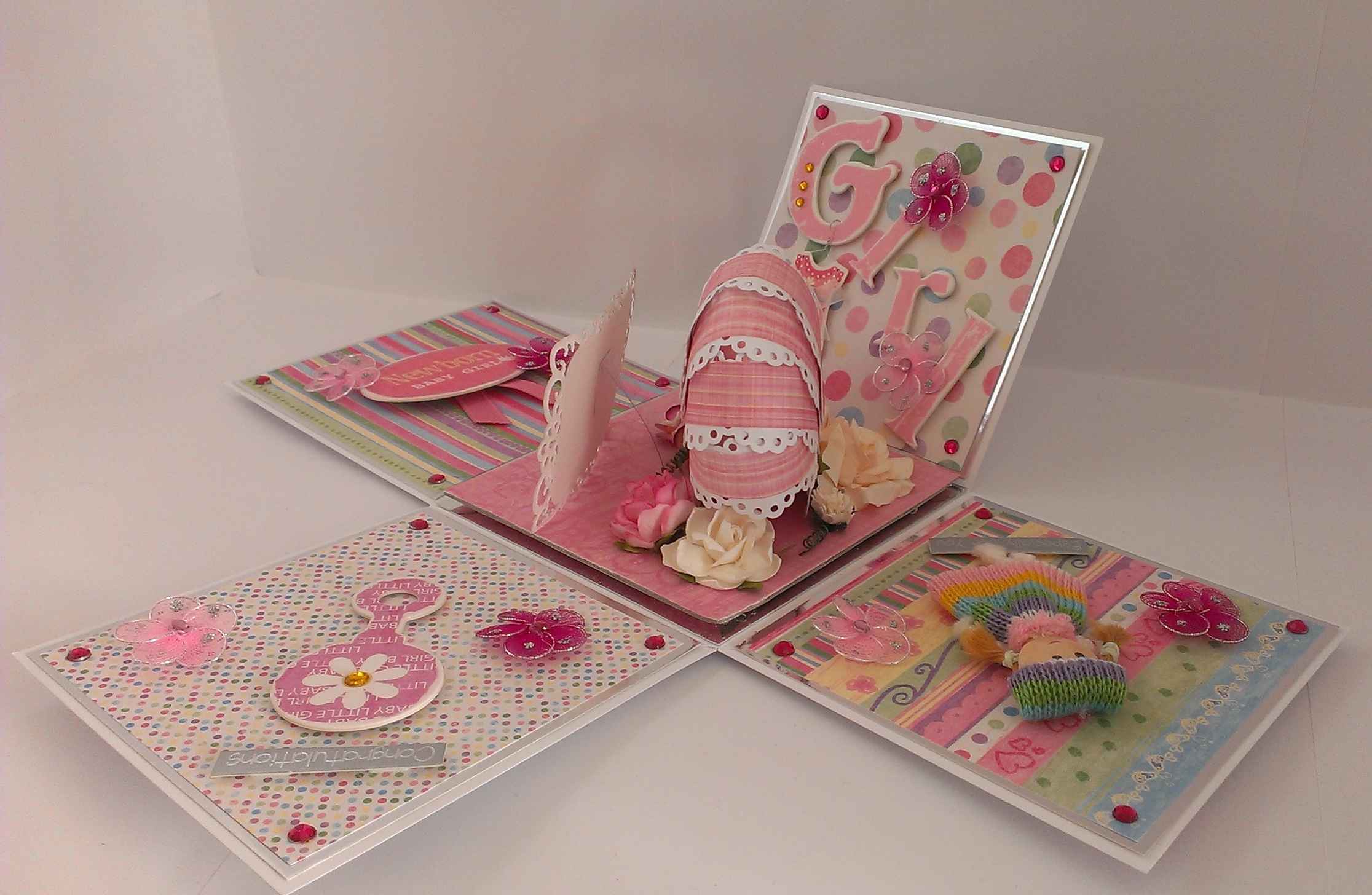 Exploding Box for a New Baby Girl – Kim Styles Cards
