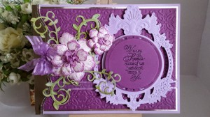Purple Arianna Bloom Card