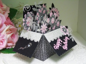 KSC-Pink & Black Floral Pop Up Box Jul 17
